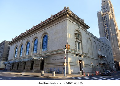 New York, NY, USA - October 18, 2016: Brooklyn Academy of Music: The Brooklyn Academy of Music (BAM) is a performing arts venue in Brooklyn, known as a center for progressive performance.