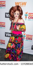 New York, NY, USA - September 29, 2018: Drag Queen Tammie Brown attends RuPaul's DragCon NYC 2018 at Jacob K Javits Convention Center, Manhattan