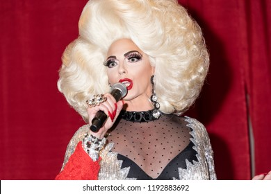 New York, NY, USA - September 29, 2018: Drag Queen Alyssa Edwards attends RuPaul's DragCon NYC 2018 at Jacob K Javits Convention Center, Manhattan