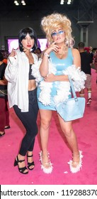 New York, NY, USA - September 29, 2018: Guests attend RuPaul's DragCon NYC 2018 at Jacob K Javits Convention Center, Manhattan