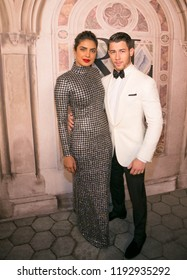 New York, NY/ USA -September 8, 2018: Priyanka Chopra and Nick Jonas attend Ralph Lauren's 50th Anniversary at Bethesda Terrace in Central Park. Hugo A.k.A. Sppider