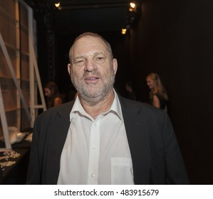 New York, NY USA - September 14, 2016: Harvey Weinstein attends Marchesa backstage by Georgia Champman, Keren Craig during New York Fashion week Spring/Summer 2017 at Skylight Moynihan Station