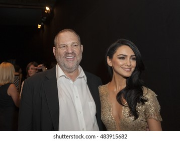 New York, NY USA - September 14, 2016: Harvey Weinstein (L) attends Marchesa backstage by Georgia Champman, Keren Craig during New York Fashion week Spring/Summer 2017 at Skylight Moynihan Station