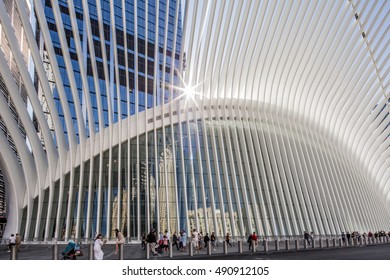 New York , NY USA - September 15, 2016 , view of the Freedom Tower and Oculus in Lower Manhattan