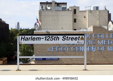 New York, NY, USA - September 13, 2016: Harlem - 125th Street: Harlem - Harlemâ??125th Street is a Metro-North Railroad commuter rail hub station in New York City. It is located in East Harlem.