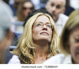 New York, NY USA - September 8, 2017: Elizabeth Shue attends day 12 of US Open Championships at Billie Jean King National Tennis Center