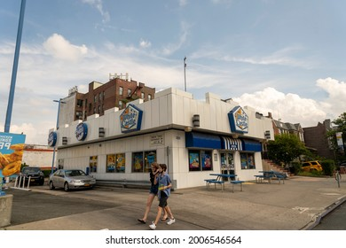 New York NY USA-July 10, 2021 A White Castle in Sunnyside, Queens in New York