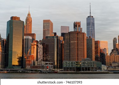 New York, NY, USA-MAY 10,2017: Lower Manhattan in early morning