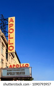 New York, NY, USA-September 14, 2016: APOLLO THEATER:The Apollo Theater at 253 West 125th Street in the Harlem neighborhood of Manhattan, is a music hall which is a noted venue for African-American.