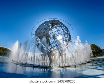 New York, NYC / USA - September 11, 2018: Unisphere - Flushing Meadows Park. Commissioned for the 1964 New York World's Fair