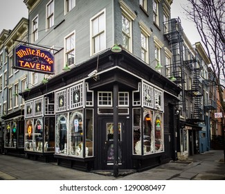 New York, NY/United States -Feb. 26, 2016: The White Horse Tavern, located in New York City's borough of Manhattan at Hudson Street and 11th Street, is known for its 1950s and 1960s Bohemian culture.