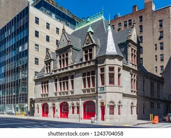 New York, NY/United States-June 13, 2016: Firehouse, Engine Company 31 is a historic fire station located at 87 Lafayette Street in the Civic Center neighborhood of Manhattan.