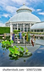 New York, NY/USA-07/8/17: The New York Botanical Garden