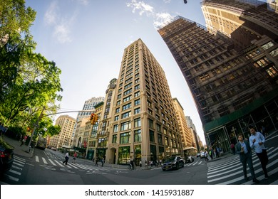 New York NY/USA_June 4, 2019  212 Fifth Avenue, center,  opposite Madison Square Park in the NoMad neighborhood of New York