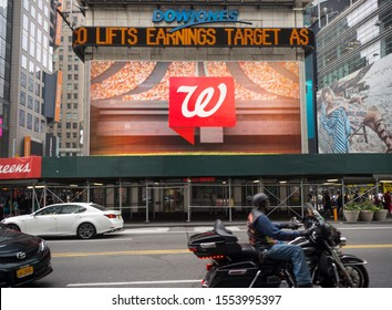 New York NY/USA-April 10, 2015 July 9, 2015 The Walgreens drug store at One Times Square in New York