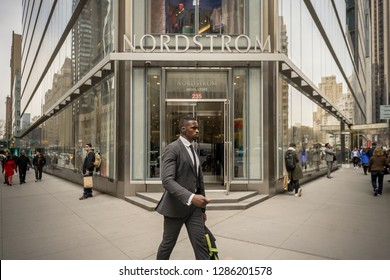 New York NY/USA-April 12, 2018  The new Nordstrom Men's Store in Midtown Manhattan in New York
