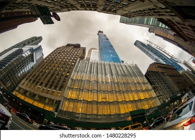 "New York NY/USA-August 13, 2019 The Extell development, Central Park Tower rises above surrounding buildings on West 57th Street, colloquially known as ""Billionaire's Row"""