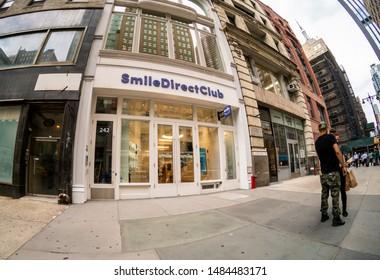 New York NY/USA-August 21, 2019 The SmileDirectClub SmileShop in the Flatiron neighborhood of New York