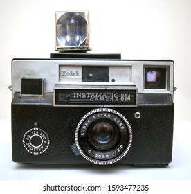 New York NY/USA-August 22, 2013 A vintage Eastman Kodak Co. Instamatic 814 camera manufactured between 1968 and 1970 is seen in New York