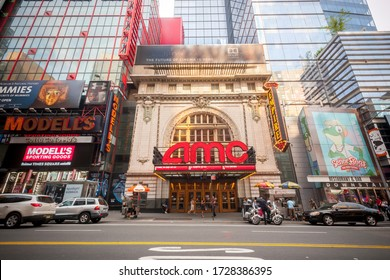 New York NY/USA-August 27 2017 The AMC Empire 25 Theatre in Times Square in New York