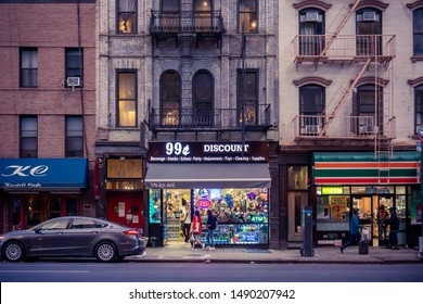 New York NY/USA-August 27, 2019 A 99 Cent store in the Chelsea neighborhood of New York