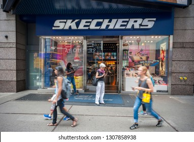 New York NY/USA-August 5, 2016 A Skechers store in Times Square in New York