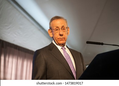 New York NY/USA-December 4, 2012 Related Companies Chairman and Trump supporter Stephen M. Ross at the groundbreaking ceremony for the long anticipated Hudson Yards project