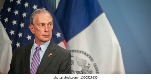 New York NY/USA-January 7, 2013 Mayor Mike Bloomberg prior to a bill signing ceremony in the Blue Room in City Hall