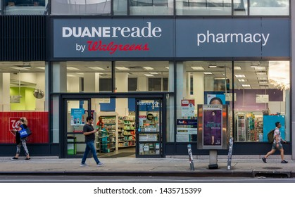 New York NY/USA-June 25, 2019  A store in the Duane Reade drug store chain in Chelsea in New York