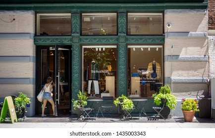 New York NY/USA-June 26, 2019 The RealReal luxury consignment store in the Soho neighborhood of New York prior to its initial public offering