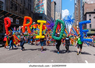 New York NY/USA-June 30, 2019 Over 150,000 marchers and millions of spectators converged on the Stonewall 50/ World Pride Parade in New York