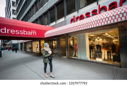 New York NY/USA-March 3, 2017 Ascena Retail Group's  Dressbarn women's clothing store in Midtown Manhattan