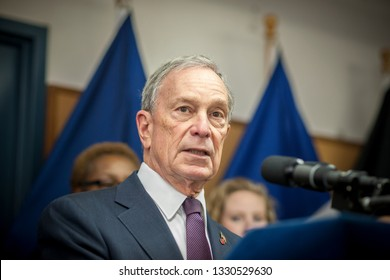 New York NY/USA-March 5, 2013 NY Mayor Michael Bloomberg speaks at a news conference in New York