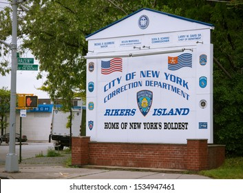 New York NY/USA-May 18, 2011 The entrance to the Rikers Island Correctional Facility in the Queens borough of New York