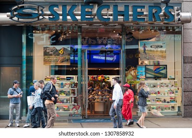 New York NY/USA-May 22, 2012 A Skechers footwear store in Manhattan in New York