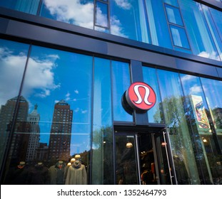 New York NY/USA-November 13, 2015 A Lululemon Athletica store in Union Square in New York