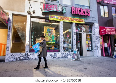 New York NY/USA-October 16, 2014 Ricky's Costume Superstore in the Chelsea neighborhood of New York