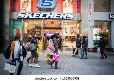 New York NY/USA-October 24, 2015 A Skechers store in Times Square in New York