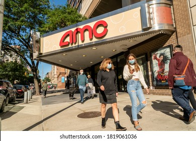 New York NY/USA-September 20, 2020 The closed AMC Theatre in the Upper West Side neighborhood in New York