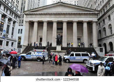 NEW YORK - OCT 09: The Federal Hall on October 09 2009 in Wall Street Manhattan New York. It was built in 1842 as the United States Custom House.