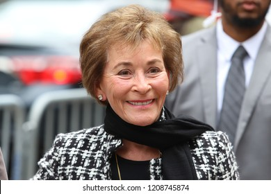 NEW YORK - OCT 14, 2018: Judge Judy Sheindlin is seen on October 14, 2018, in New York City.