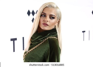 NEW YORK - OCT 15, 2016: Bebe Rexha attends the TIDAL X: 1015 concert at the Barclays Center on October 15, 2016, in New York