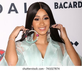NEW YORK - OCT 17, 2017:  Cardi B attends the TIDAL X: Brooklyn concert at the Barclays Center on October 17, 2017, in New York
