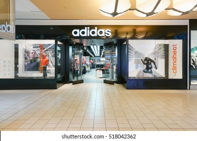 NEW YORK - OCT 22: Adidas store at Queens Center on Oct 22, 2016 in Queens, New York, USA.