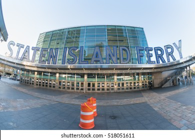 NEW YORK - OCT 23: Staten Island Ferry on Oct 23, 2016 in New York city, USA.