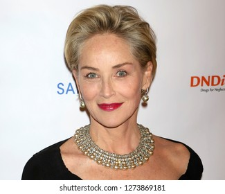 NEW YORK - OCT 24, 2018: Sharon Stone attends the DNDi inaugural Making Medical History Gala on October 24, 2018, in New York City.