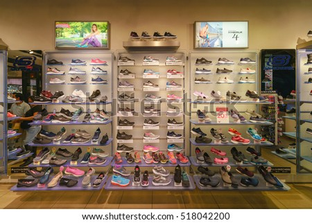 1e42ca241bb0 NEW YORK - OCT 25  Skechers shoe display at Skechers shop at Queens Center  on