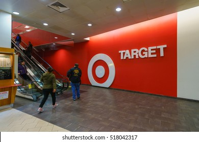 NEW YORK - OCT 26: Target mall at Queens Place on Oct 26, 2016 in Queens, New York, USA.