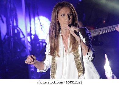 NEW YORK - OCT 29: Celine Dion performs in concert at the Edison Ballroom on October 29, 2013 in New York City.