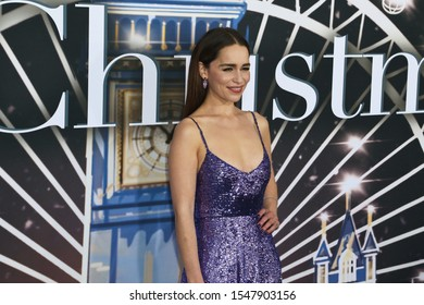 NEW YORK - OCT 29: Emilia Clarke attends the Universal Pictures premiere of 'Last Christmas' at AMC Lincoln Square on on October 29, 2019 in New York City.